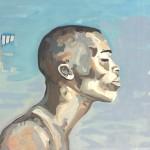 Portrait n°26 - acrylique et huile sur toile - 60 x 85 cm