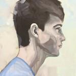 Portrait n°28 - acrylique et huile sur toile - 85 x60 cm