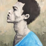 Portrait n°29 -acrylique et huile sur toile - 85 x 60 cm