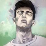 Portrait n°30 - huile sur toile - 100 x 100 cm