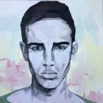 Portrait n°31 - huile sur toile - 100 x 100 cm