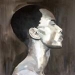 Portrait n°34 - huile sur toile - 100 x 100 cm
