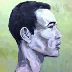 Portrait n°32 - huile sur toile - 100 x 100 cm