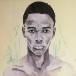 Portrait n°36 - huile sur toile - 100 x 100 cm