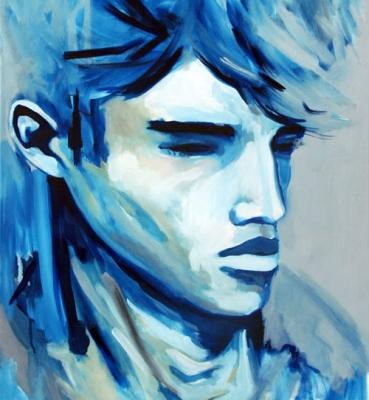 Portrait n°11 – acrylique et huile sur toile – 72 x 60 cm