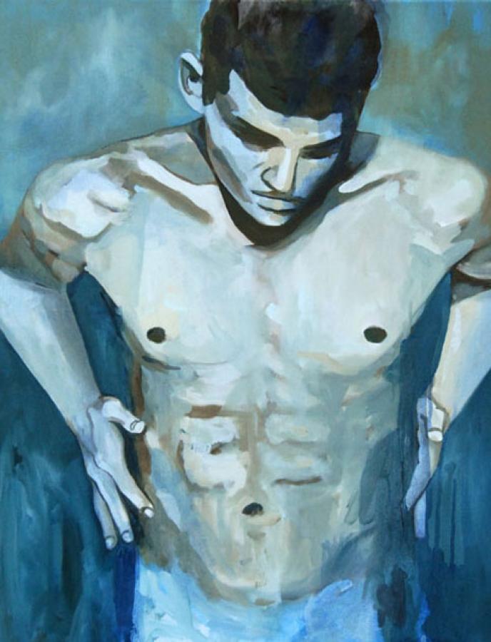 Portrait n°12 – acrylique et huile sur toile – 60 x 50 cm