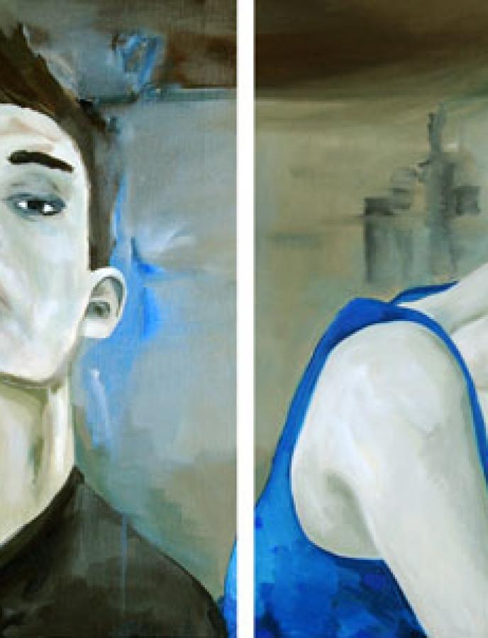 Portrait n°13 – acrylique et huile sur toile – 72 x 120 cm