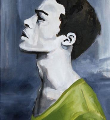 Portrait n°20 – acrylique et huile sur toile – 54 x 46 cm