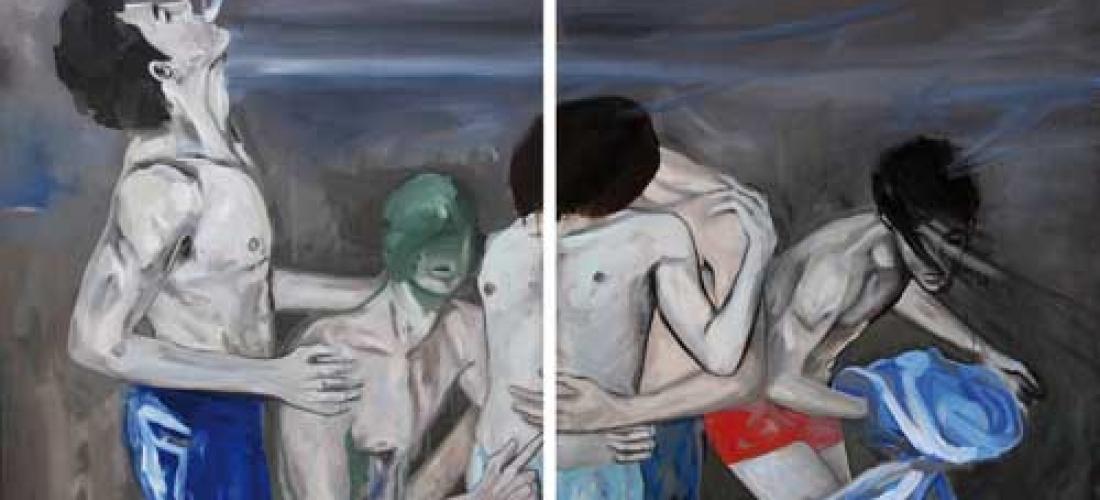 sans-titre – acrylique et huile sur toile – 85 x 120 cm