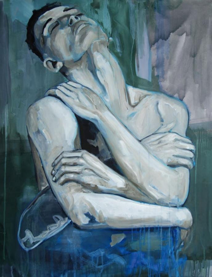 Wrestling n°17 – acrylique et huile sur toile – 92 x 73 cm