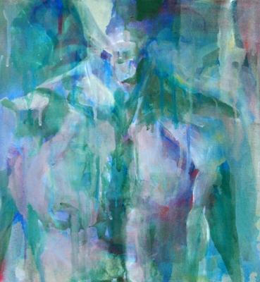 Portrait n°08 – acrylique sur toile- 40 x 40 cm