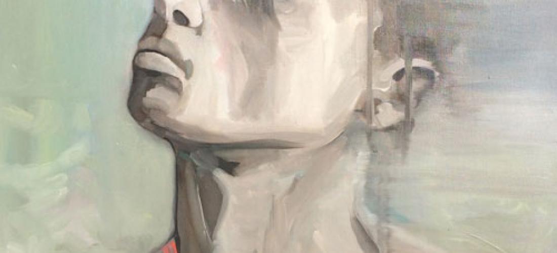 Portrait n°25 -acrylique et huile sur toile – 80 x 60 cm