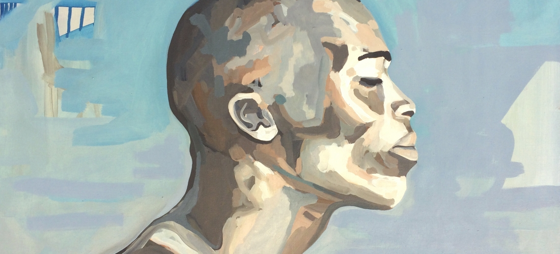 Portrait n°26 – acrylique et huile sur toile – 60 x 85 cm