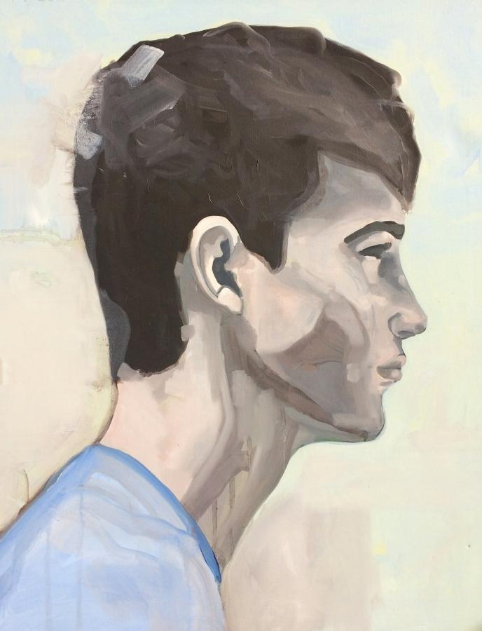 Portrait n°28 – acrylique et huile sur toile – 85 x60 cm