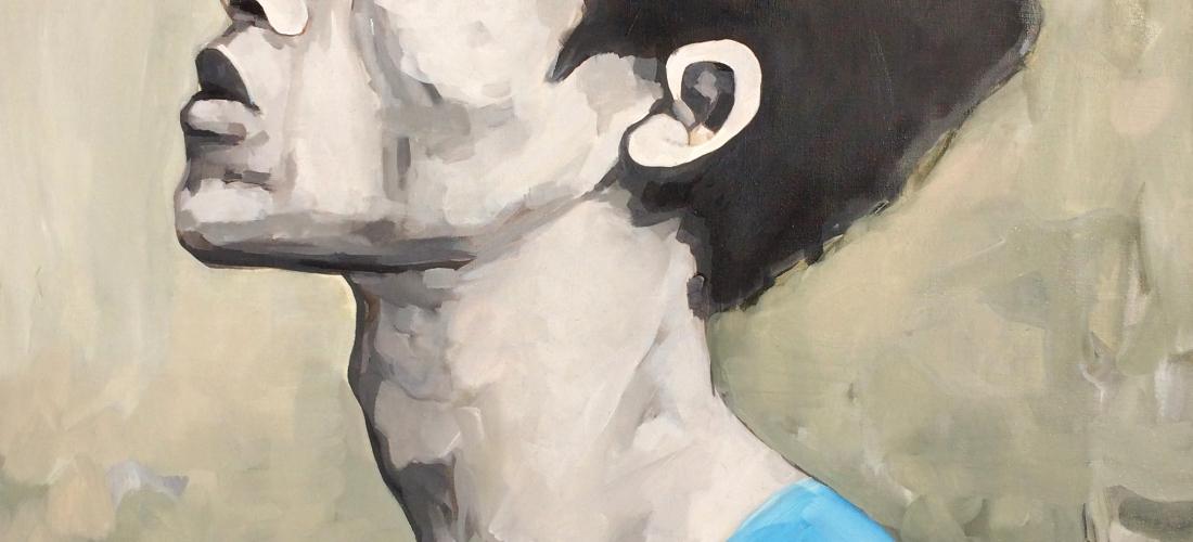 Portrait n°29 -acrylique et huile sur toile – 85 x 60 cm