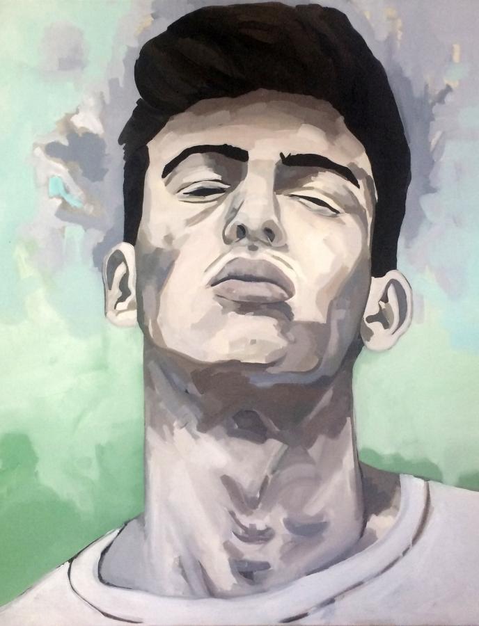 Portrait n°30 – huile sur toile – 100 x 100 cm