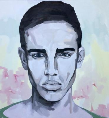 Portrait n°31 – huile sur toile – 100 x 100 cm