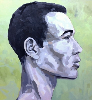 Portrait n°32 – huile sur toile – 100 x 100 cm