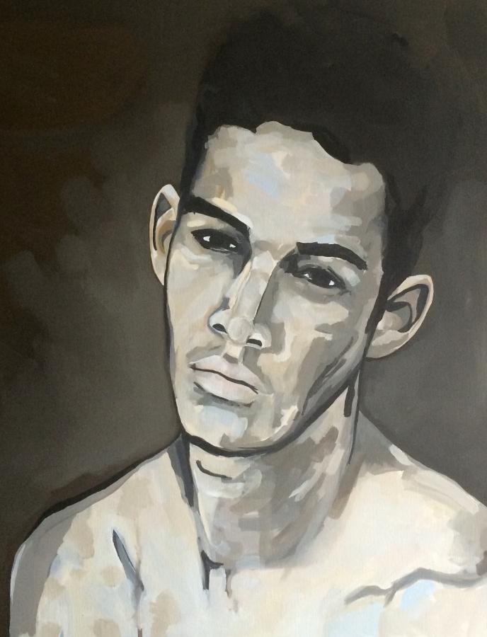 Portrait n°33 – huile sur toile – 40 x 40 cm