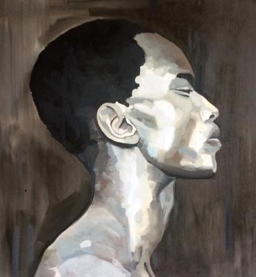 Portrait n°34 – huile sur toile – 100 x 100 cm