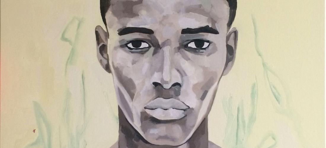 Portrait n°36 – huile sur toile – 100 x 100 cm