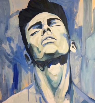 Portrait n°37 – huile sur toile – 100 x 100 cm