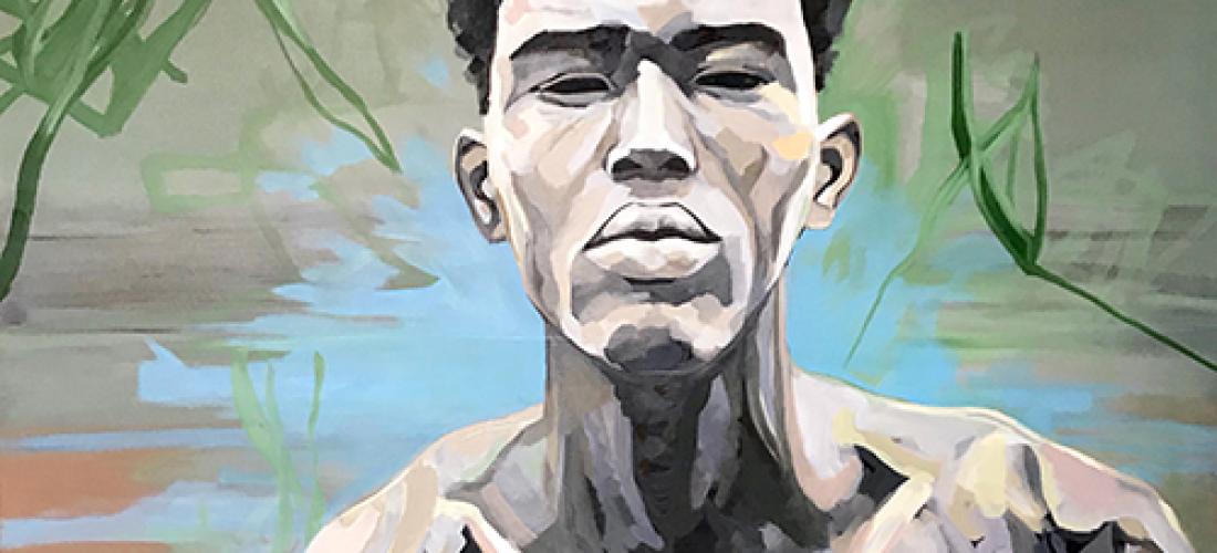 Portrait n°45 – huile sur toile – 100 x 100 cm