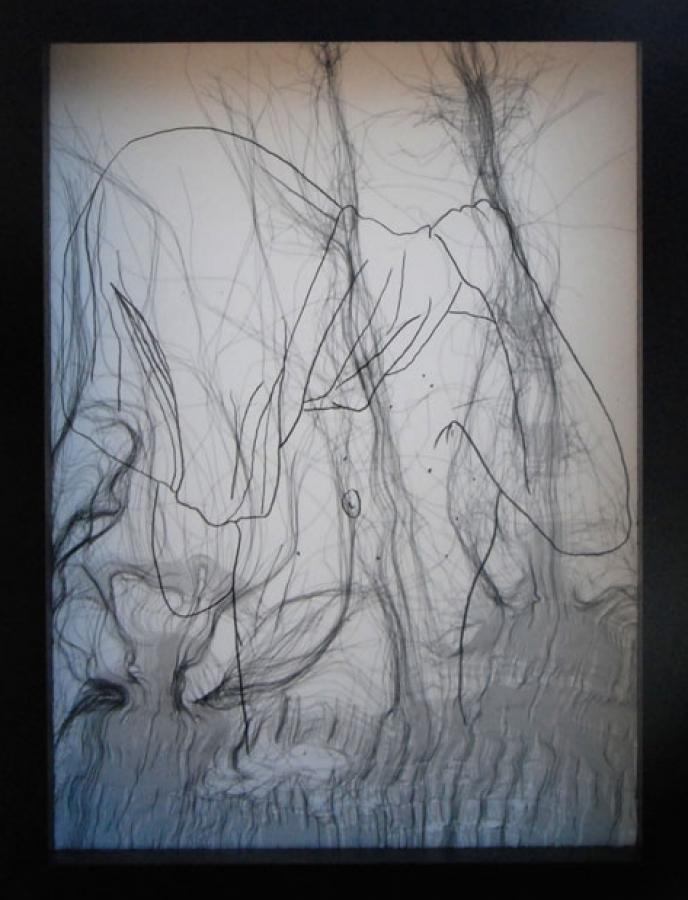 Dessin C – technique mixte – 21 x 16 cm